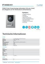 VT-AS02-K1 Datenblatt