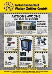 ABC Walter Zettler Industriebedarf – Flyer Aktions-Woche