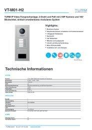 VT-M01-H2 Datenblatt