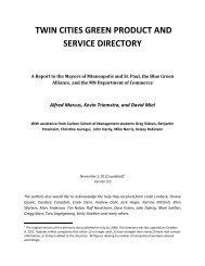 twin cities green product and service directory - City of Minneapolis