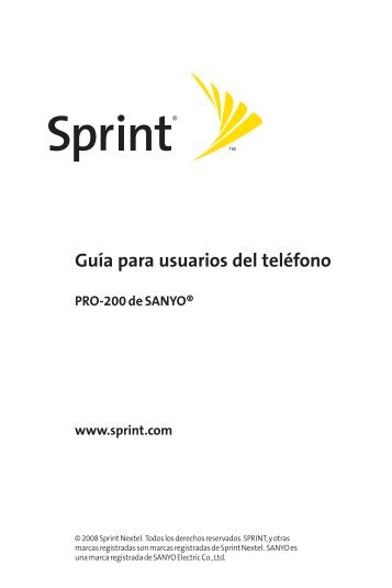 Guía para usuarios del teléfono - Sprint Support