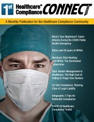 First Healthcare Compliance CONNECT November 2020