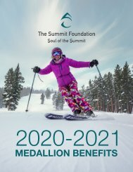 2020 Medallion Benefit Book