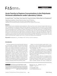 Acute Toxicity to Peptone Concentrations in the Polychaete ... - E-FAS