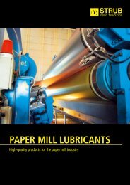 PAPER MILL LUBRICANTS