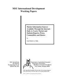 MSU International Development Working Papers - Department of ...