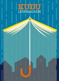 KUDU MAGAZIN: Das Lesemagazin Ihrer Lieblingsbuchhandlung – macht Lust auf Bücher und aufs Lesen!