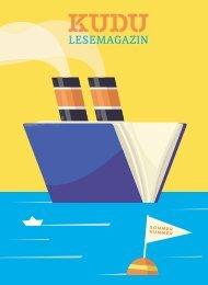 KUDU MAGAZIN: Das Lesemagazin Ihrer Lieblingsbuchhandlung – macht Lust auf Bücher und aufs Lesen!Sommernummer 2020