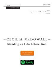 Cecilia McDowall Standing as I do before God