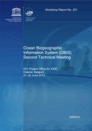 Ocean Biogeographic Information System (OBIS ... - unesdoc - Unesco