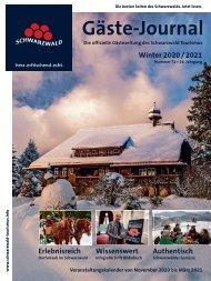 Schwarzwald Gäste Journal Winter 2020