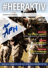 Das neue Magazin der AUF/AFH-Personalvertreter (Ausgabe Dezember 2020)