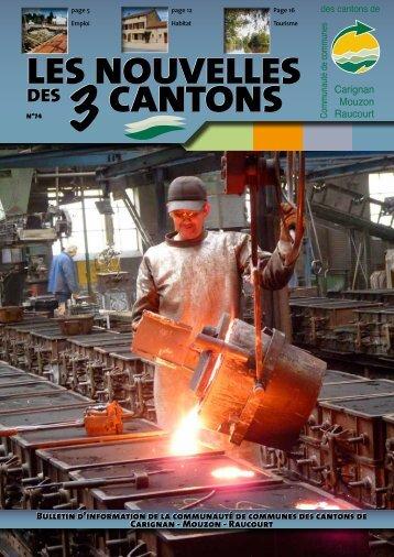 LES NOUVELLES CANTONS LES NOUVELLES ... - Trois Cantons