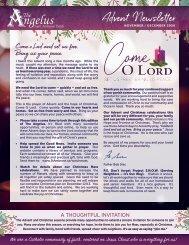 Saint Ambrose Advent Newsletter 2020