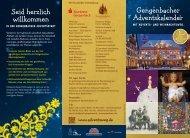 Adventsweg Gengenbach Infos