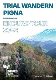 Reisebroschüre Trail Wandern Pigna