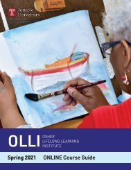 OLLI Spring 2021 Course Guide