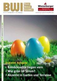 In dieser Ausgabe Kombikredite liegen vorn Wie grün ist Strom?