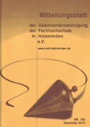 Heft Nr. 195 (Dezember 2012) - AVH-Holzminden