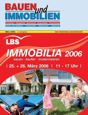25. + 26. März 2006 11 - 17 Uhr - Bauen Wohnen Immobilien