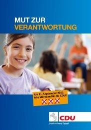 Mut zur verantwortung - CDU Ortsverband Dassel