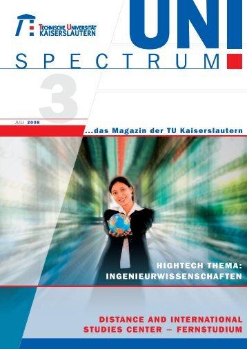 S P E C T R U M - Universität Kaiserslautern