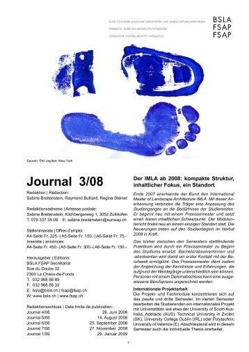 Journal 3/08 - BSLA