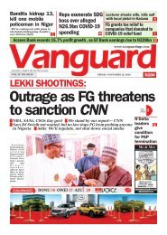 20112020 - LEKKI SHOOTINGS: Outrage as FG threatens to sanction CNN