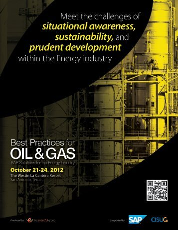 October 21-24, 2012 - Best Practices for Oil & Gas