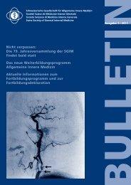 SGIM/SGAM - Schweizerische Gesellschaft für Innere Medizin