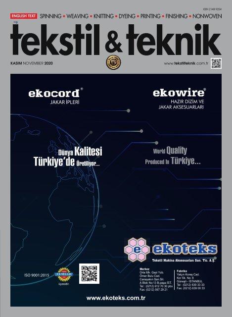 Tekstil Teknik November 2020
