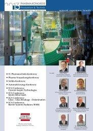 Teilnahme an den Konferenzen des Kongresses - Pharma Kongress ...