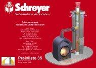 Preisliste 35 - Schornsteinwerk Schreyer GmbH
