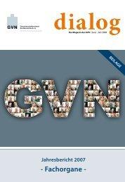 Jahresbericht 2007 - Fachorgane - Genossenschaftsverband eV