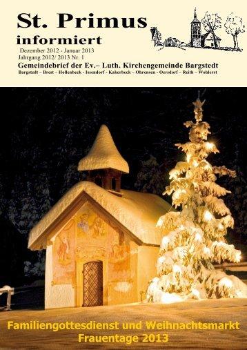 Gemeindebrief Dezember - Januar 2012-2013 - Kirchengemeinde ...