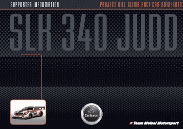 supporter information project hill climb race car 2012/2013 - SLK340