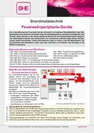 Brandmeldetechnik Feuerwehrperipherie-Geräte