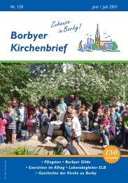 Borbyer Kirchenbrief Nr. 150 - e+h internet dienste
