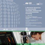 II. Münchener Symposium für experimentelle Orthopädie ...