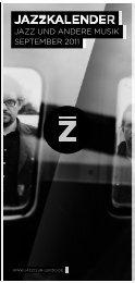 jazz und andere Musik septeMber 2011 - Jazzclub Leipzig eV