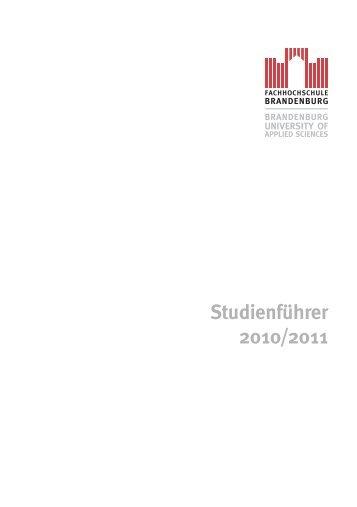 Studienführer 2010/2011 - Fachhochschule Brandenburg