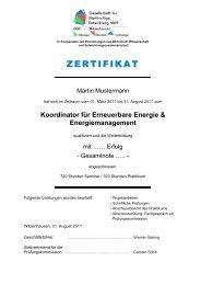 Koordinator für Erneuerbare Energie & Energiemanagement