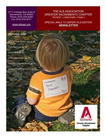 November newsletter with walk - Sacramento - ALS Association