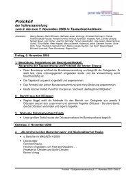 Protokoll der Vollversammlung vom 6. bis zum 7. November 2009 in ...