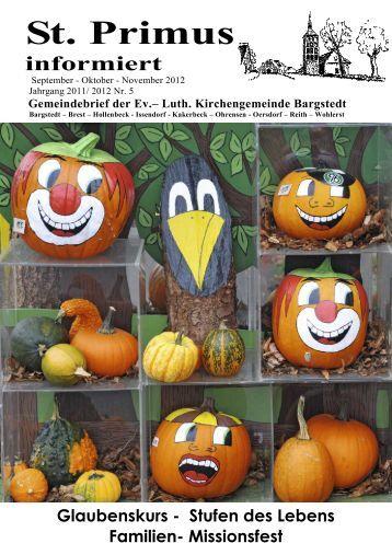 Gemeindebrief September - Oktober - November 2012