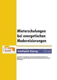 Mieterschulungen bei energetischen Modernisierungen - target GmbH
