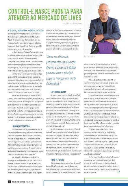 Revista Live Marketing Edição 36 - 2020