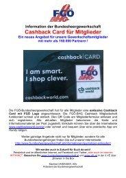 FGÖ-BHG Cashbackworld-Mitgliedschaft.