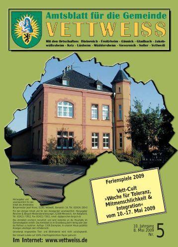 Mai 2009 - Gemeinde Vettweiss