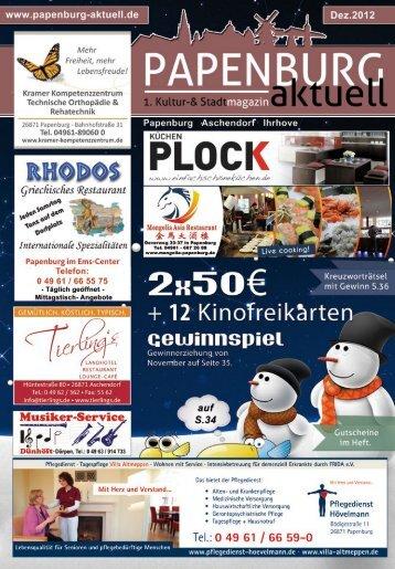 Termine und Informationen - Papenburg aktuell